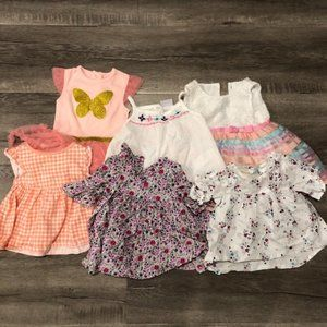 baby girls floral lot of 6 dresses